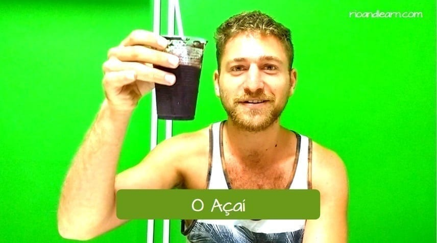 What is Açaí. Portuguese Student eating Açaí
