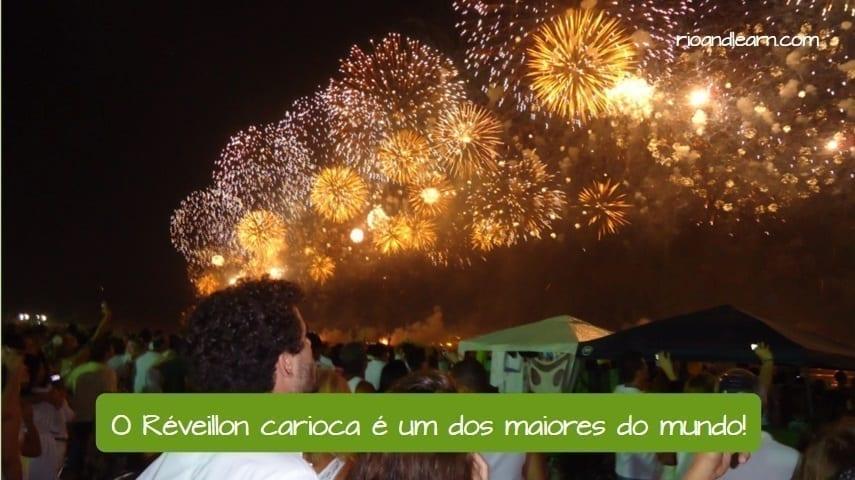 Rio de Janeiro New Years. Carioca's New Year. O reveillon carioca é um dos maiores do mundo.