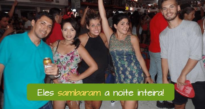 Ejemplo del pretérito perfecto en portugués.