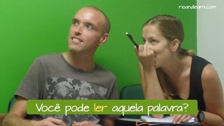 Verb Ler in Portuguese. Você pode ler aquela palavra?