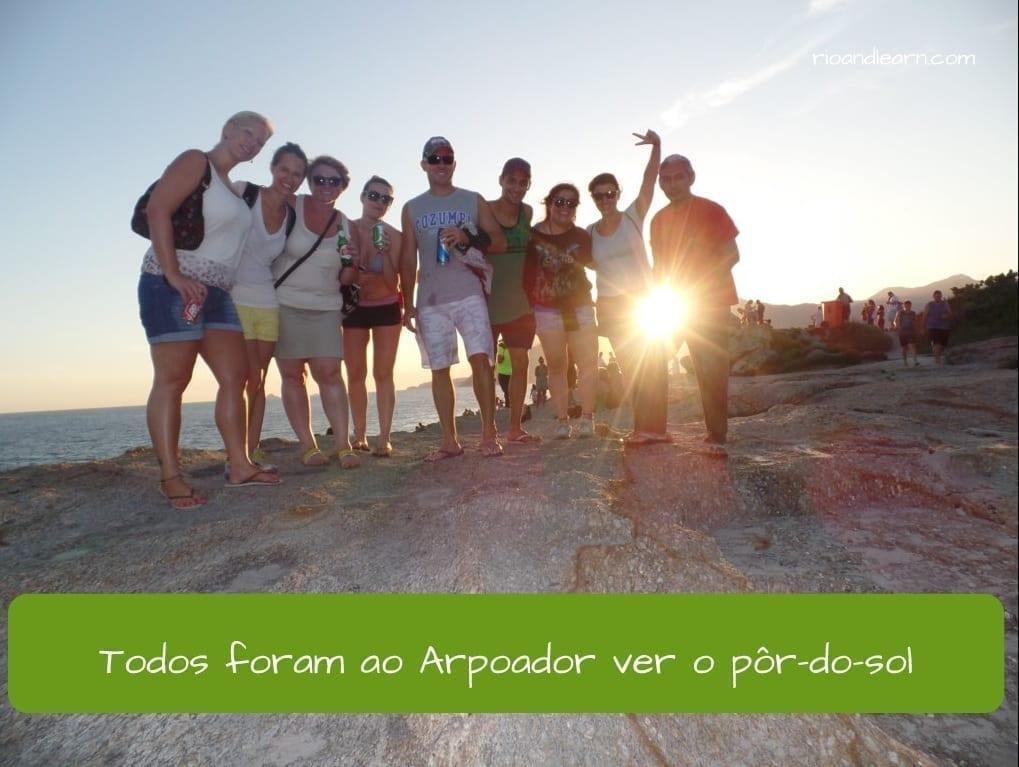 Past tense of Go in Portuguese. Eles foram ao Arpoador para ver o pôr do sol.