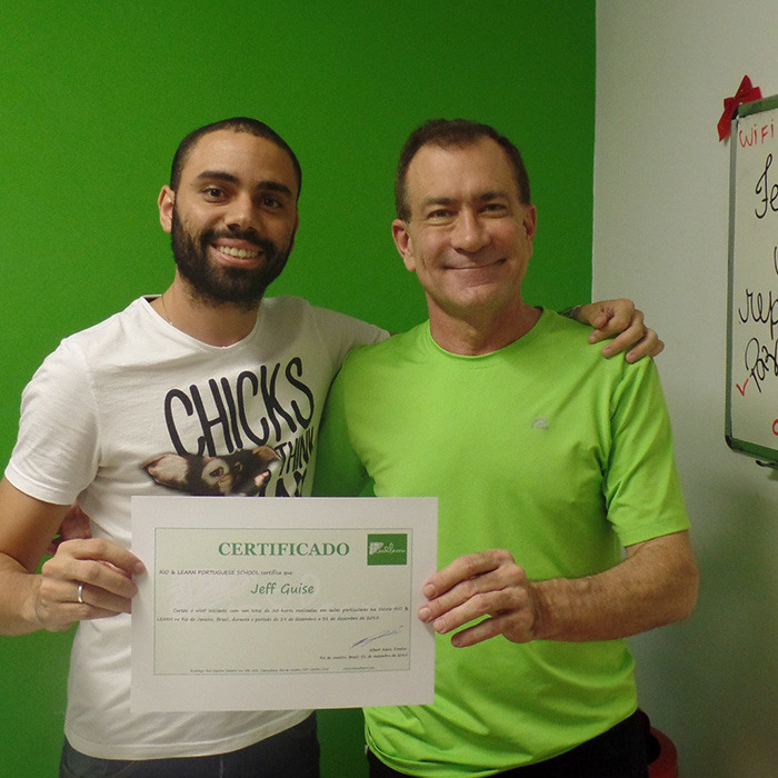 Student from the USA in Rio de Janeiro. Portuguese private classes in Brazil.