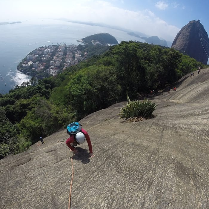 Group Classes in Rio de Janeiro. Learn Portuguese in a fun way with climbing activities.