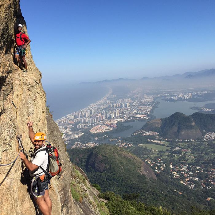 Climbing classes in Rio de Janeiro with Rio & Learn Portuguese school.