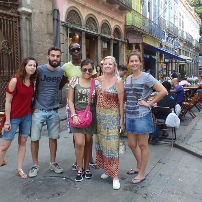 Students with Brazilian Visa in Rio de Janeiro.