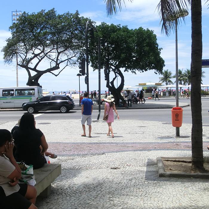 Portuguese School next to Copacabana beach in Rio de Janeiro.