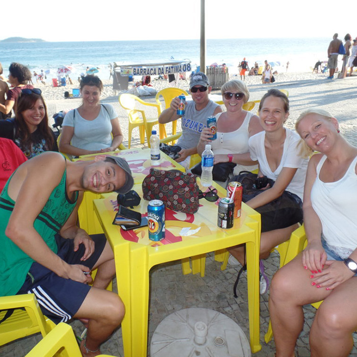 Learn Portuguese in Real life situation at Copacabana beach.