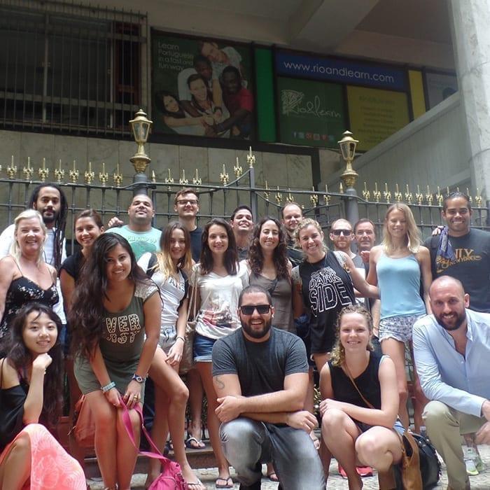 Learn Portuguese in Rio de Janeiro. Rio & Learn Portuguese School students in Copacabana.