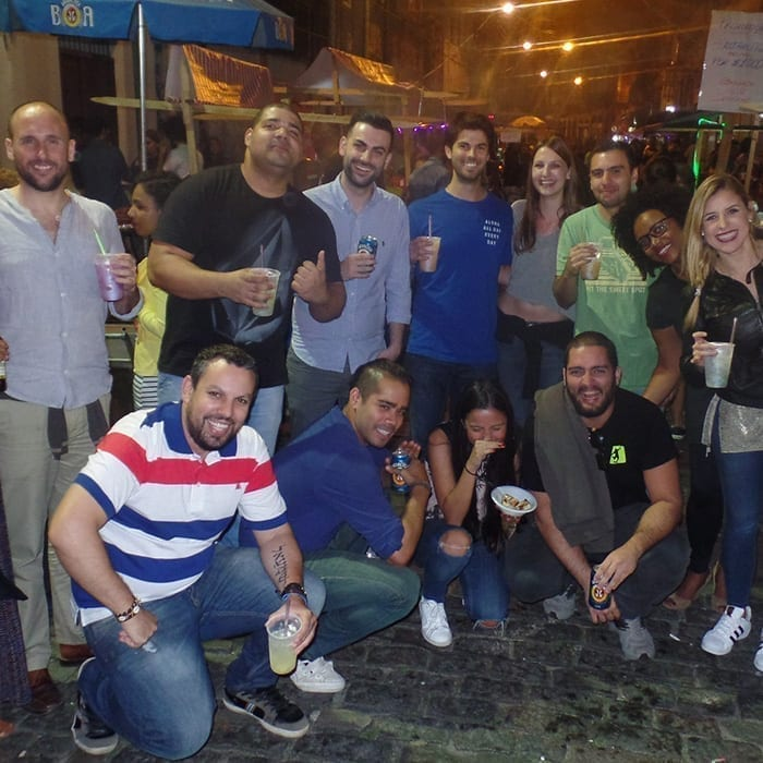 Study Portuguese and have fun. Students of Portuguese in Lapa.