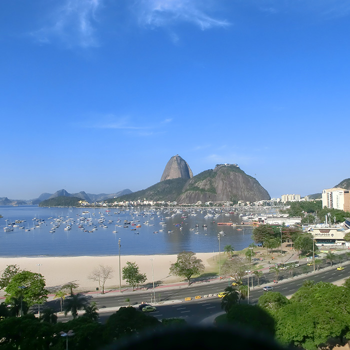 Botafogo Beach view from the top of Botafogo Praia Shopping.
