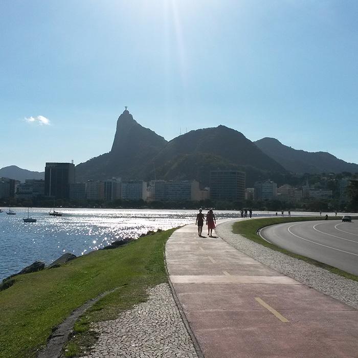 Walk by Botafogo coast in Rio de Janeiro