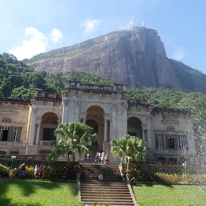 Parque Lage is a famous tourist place in Rio de Janeiro.