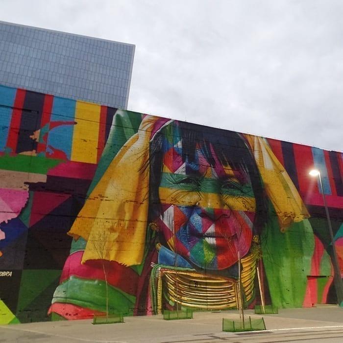 Etnias Wall at the Olympic Boulevard in Rio de Janeiro.