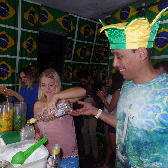 Caipirinha Class in Lapa with Norwegian student of Portuguese.