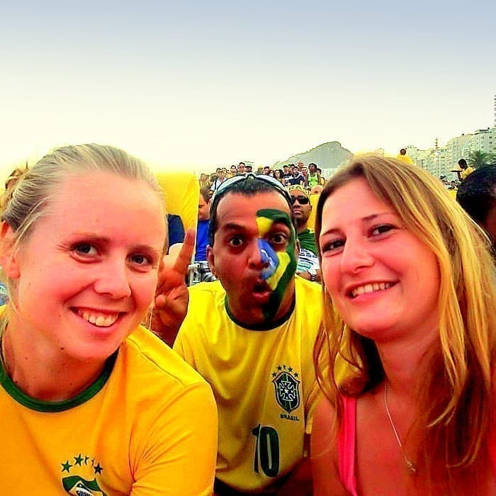 Students enjoying Rio de Janeiro during the World Cup.