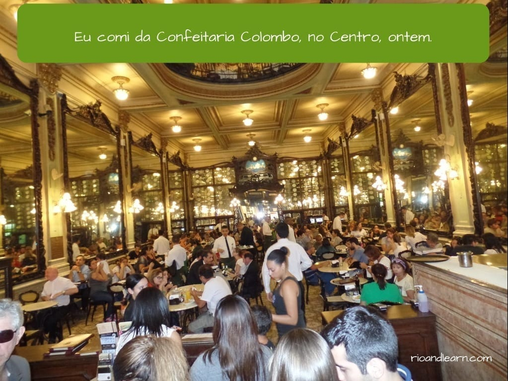 Ejemplo con el Pasado de los Verbos terminados en ER en portugués.