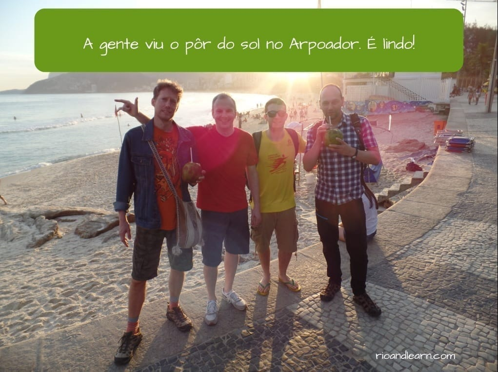 How to use A Gente in Portuguese. A gente viu o por-do-sol no arpoador.