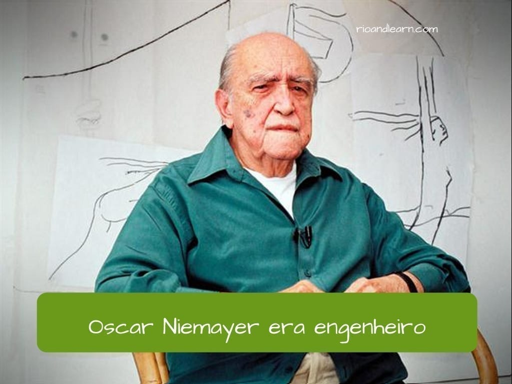 Ser Imperfect in Portuguese. Example sentence using the verb ser (to be) in the past (pretérito imperfeito) in portuguese: Oscar Niemayer era engenheiro