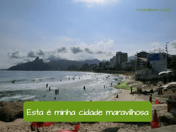 Pronomes Adjetivos e Possessivos em Português. Esta é minha cidade maravilhosa