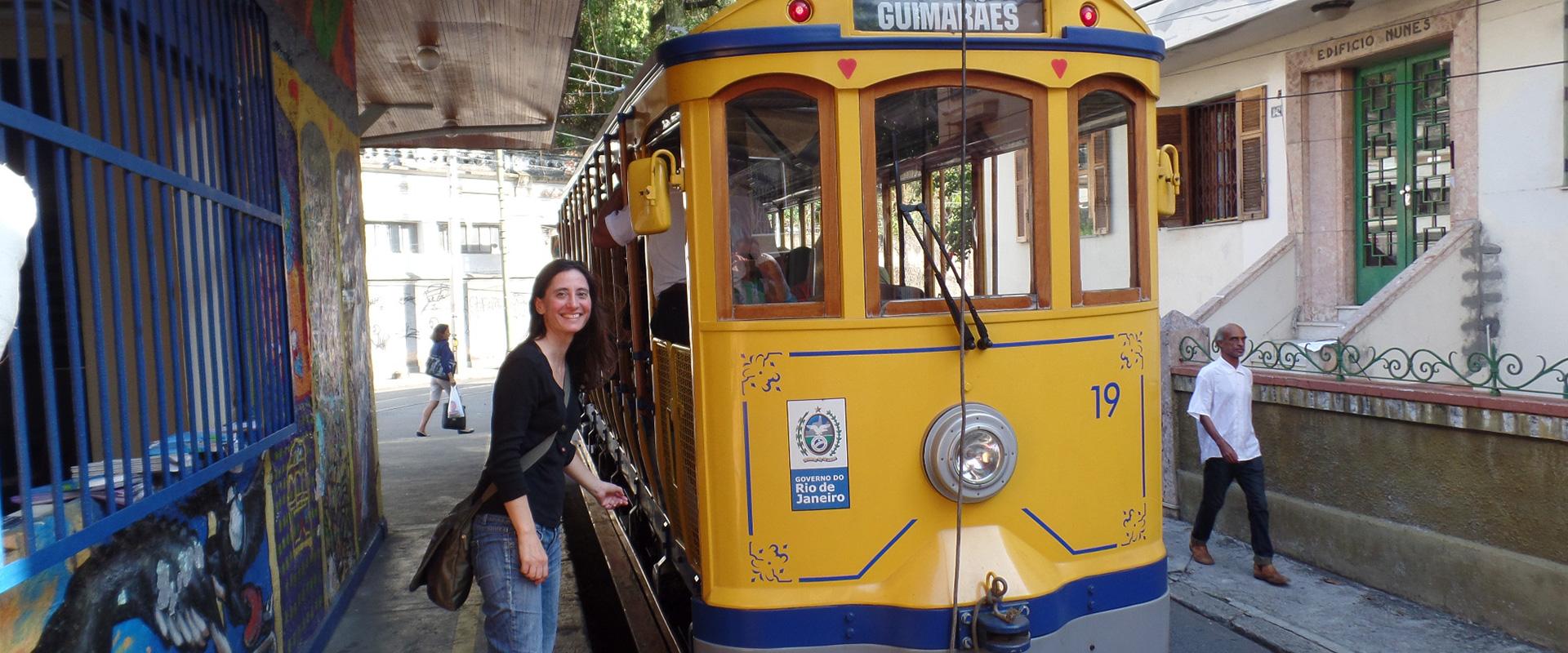 Spanish student learning Portuguese at Santa teresa in Rio de Janeiro.