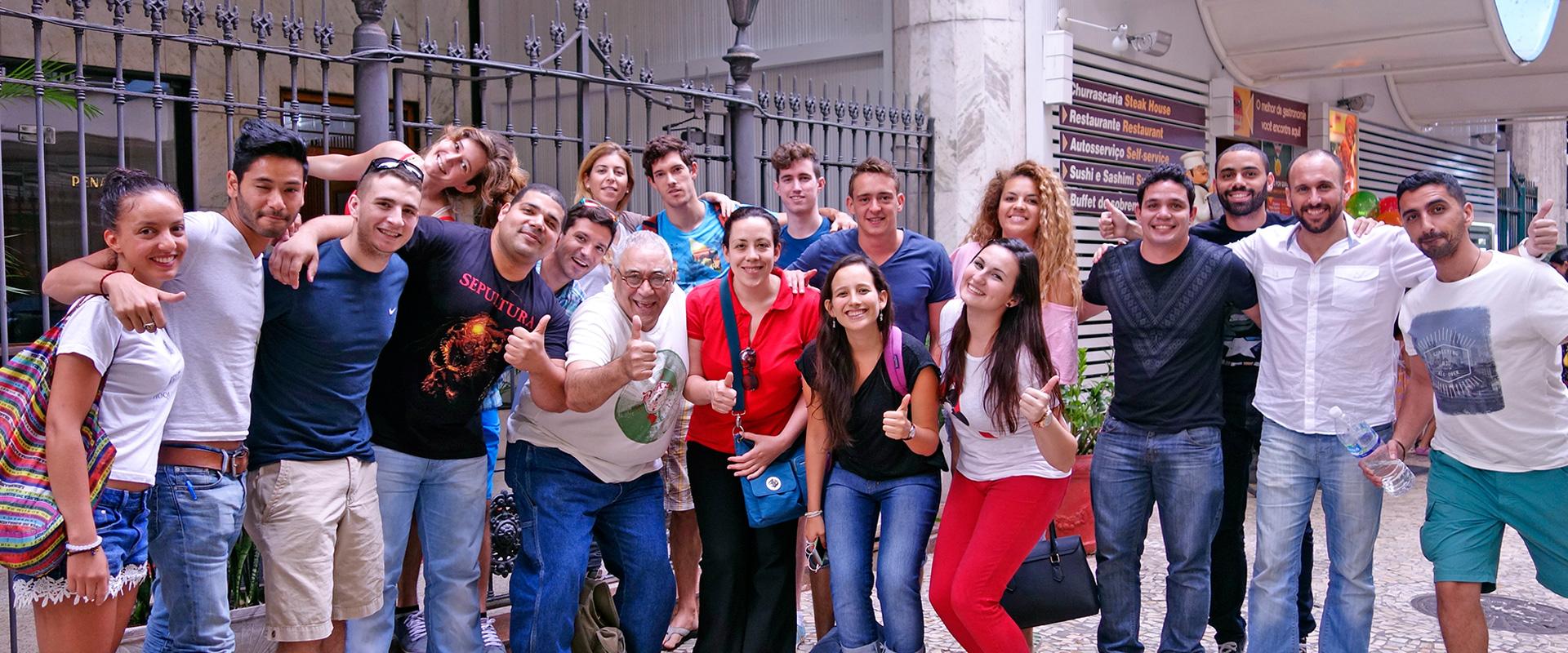 Foreigner students in Rio de Janeiro. Rio & Learn Portuguese.
