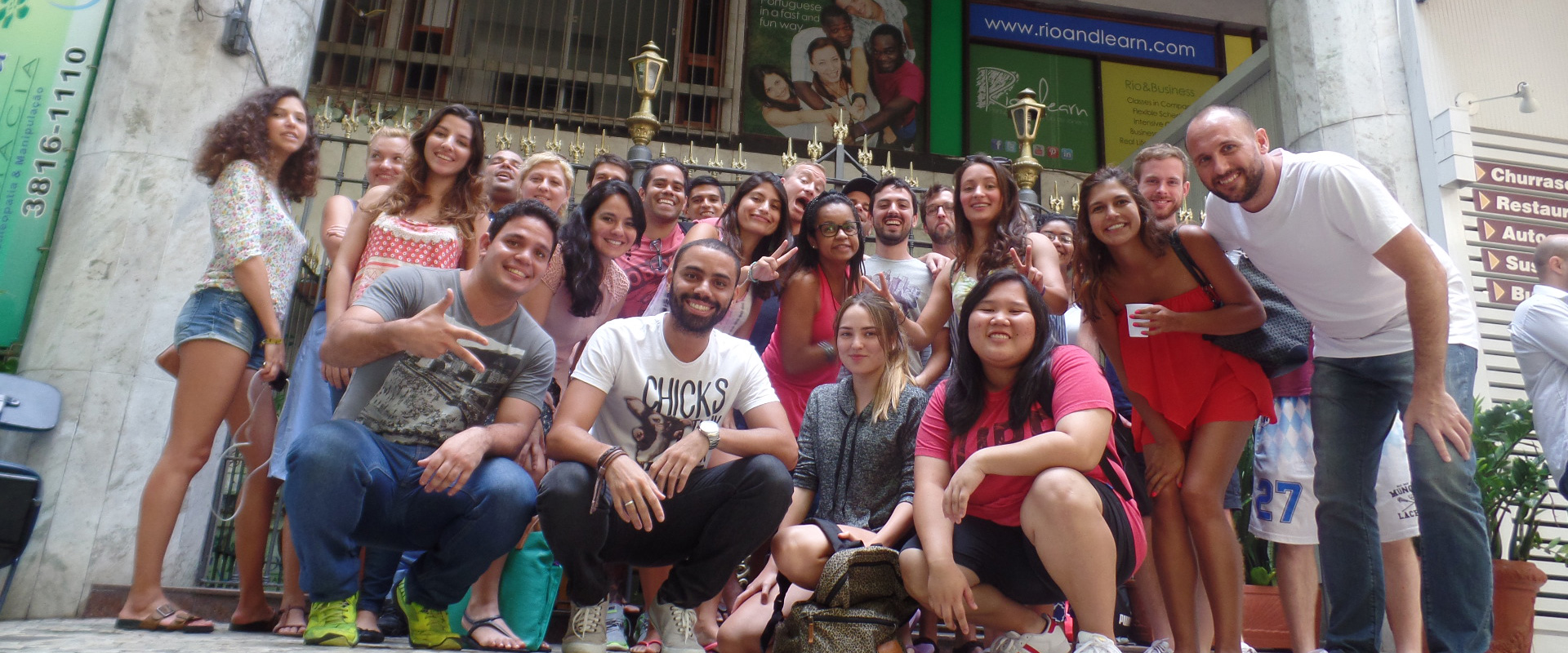 Students at Rio & Learn Portuguese Language School in Brazil